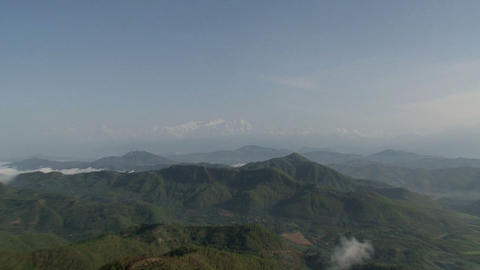 Zoom out from the Annapurna Range of the Himalayas Stock Video Footage
