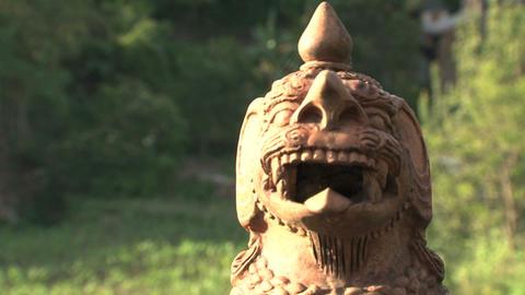 Dragon statue Stock Video Footage