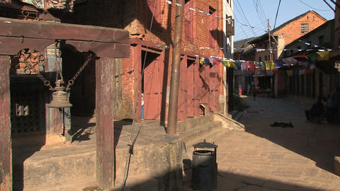 Bell in the streets of Bandipur Stock Video Footage
