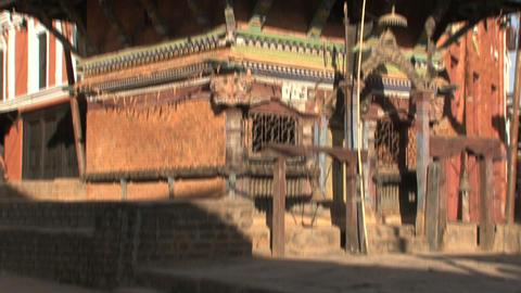 Tilt from a temple Stock Video Footage