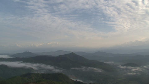 Mountain range clouds time lapse Stock Video Footage