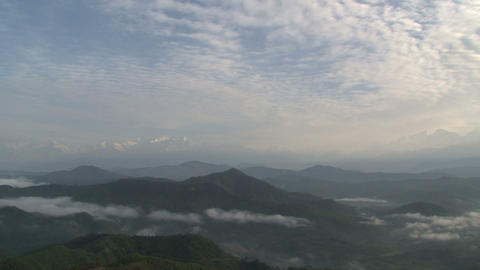 Mountain range clouds time lapse Footage