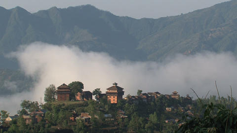 Nuwakot village time lapse Stock Video Footage