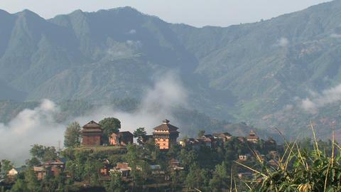 Nuwakot village time lapse Stock Video Footage