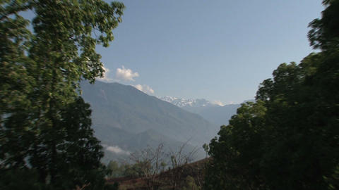 Zoom-out himalaya mountain range Stock Video Footage