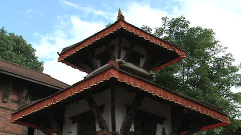 Rooftop of a temple within Nuwakot Durbar Footage