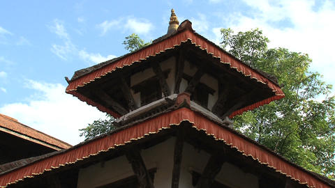 Rooftop of a temple within Nuwakot Durbar Square Stock Video Footage