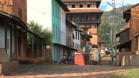 Street in Nuwakot, Nepal Stock Video Footage
