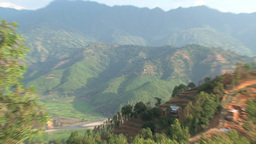 Zoom out from the mountain to Nuwakot Footage