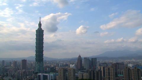Taipei 101 time lapse Stock Video Footage
