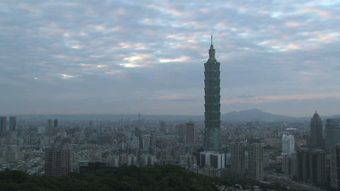 taipei 101 tower timelapse Footage