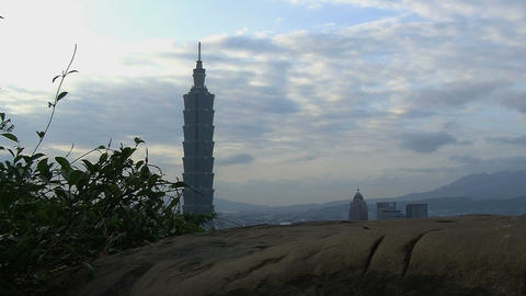 taipei 101 tower timelapse slider Footage