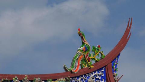 Taipei Confucius temple roof timelapse Footage