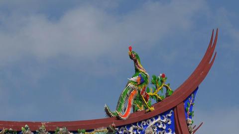 Taipei Confucius temple roof timelapse Stock Video Footage