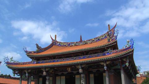 Taipei Confucius temple timelapse Stock Video Footage