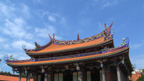 Taipei Confucius temple timelapse Stock Video Footage