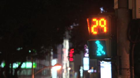 Taipei traffic light at night Stock Video Footage