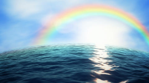 Rainbow ocean Stock Video Footage