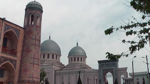 Dzhuma Mosque in tashkent uzbekistan Stock Video Footage