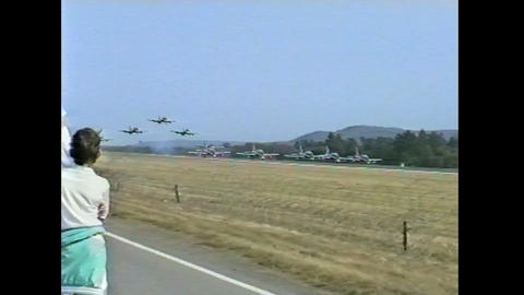 Ramstein Airshow Disaster lift off 10897 Stock Video Footage