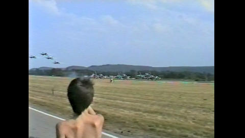 Ramstein Airshow Disaster lift off 10897 Footage
