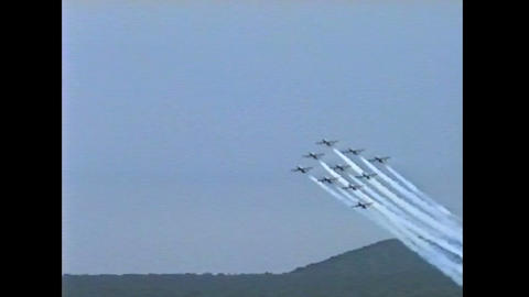 Ramstein Airshow Disaster last figure 10899 Stock Video Footage