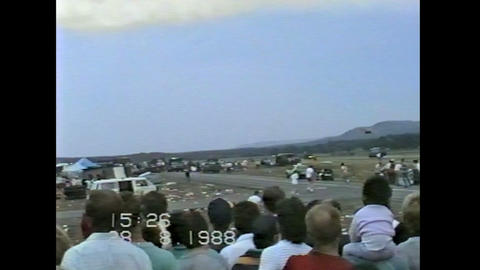 Ramstein Airshow Disaster rescue operations 10901 Stock Video Footage