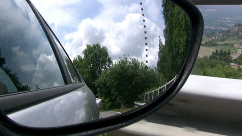 Rear-view mirror Footage