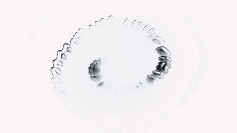 spiral pure dew,swirl waterdrops bubble and cells,like pearl necklace Animation