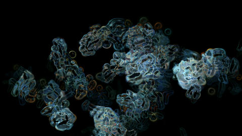 virus and cells,bubble and herpes underwater Animation