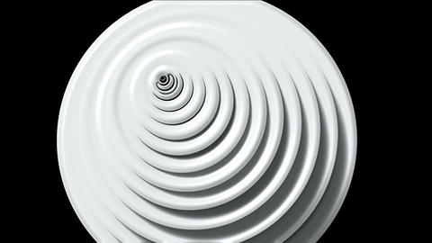 rotation plastic rounds shaped 3d machine tunnel... Stock Video Footage