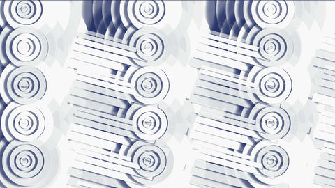 circle and round pipe,industry machinery bearings,paper... Stock Video Footage