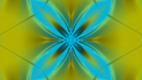 glowing flower pattern as disco neon... Stock Video Footage