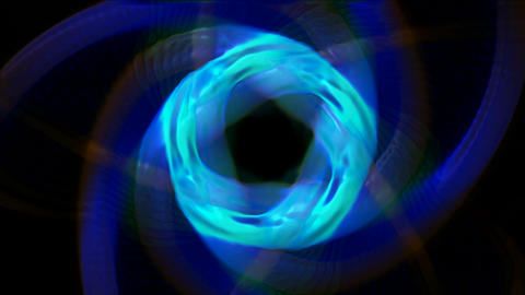 rotation metal round tunnel hole and chain totem.abstract,backgrounds,animation Animation
