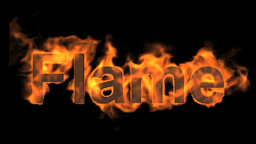 Burning Flame Word. stock footage