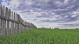 Fence Time Lapse stock footage