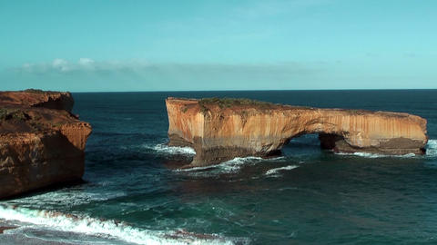 London arch at Campbell National Park Australia Stock Video Footage