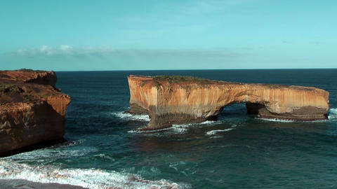 London Arch At Campbell National Park Australia stock footage