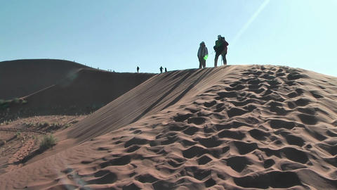 Photographer on big daddy dune,Soussuvlei,Namibia,Afric Stock Video Footage