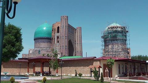 Bibi Khanym Mosque Stock Video Footage