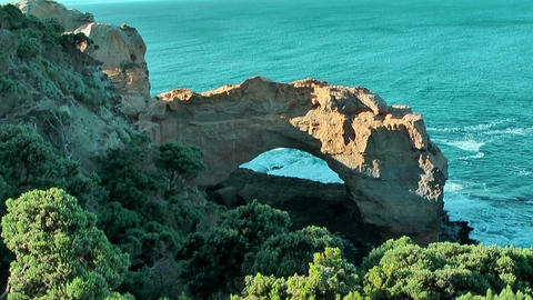 Scenic natural arc at great ocean road in Australia Footage
