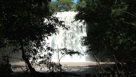 waterfall llannos del cortez in costa rica Stock Video Footage