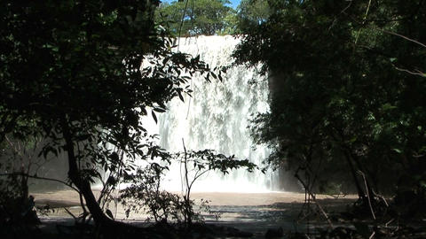 waterfall llannos del cortez in costa rica Stock Video Footage