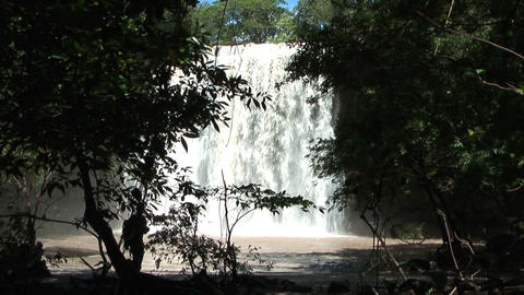 waterfall llannos del cortez in costa rica Footage