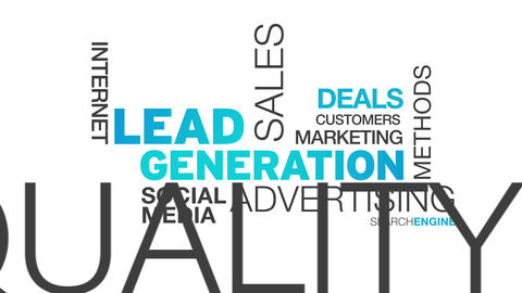 Lead Generation Word Cloud Animation Stock Video Footage