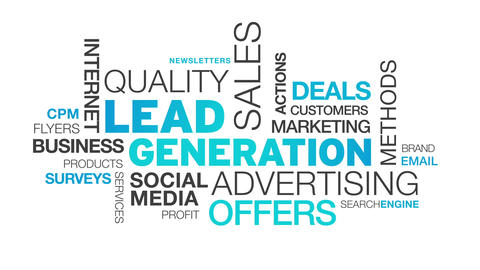 Lead Generation Word Cloud Animation Animation