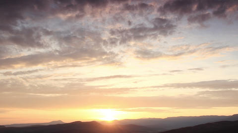 Timelapse sunrise in the mountains Stock Video Footage