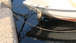 ROPED BOATS Stock Video Footage