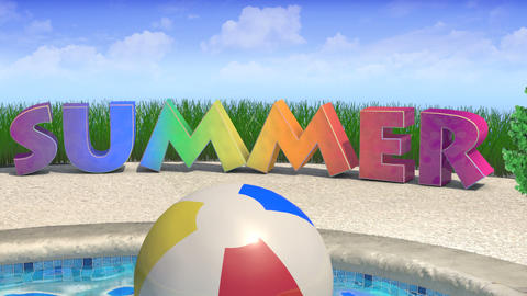 Summer Title Animation Stock Video Footage