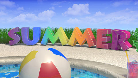 Summer Title Animation stock footage